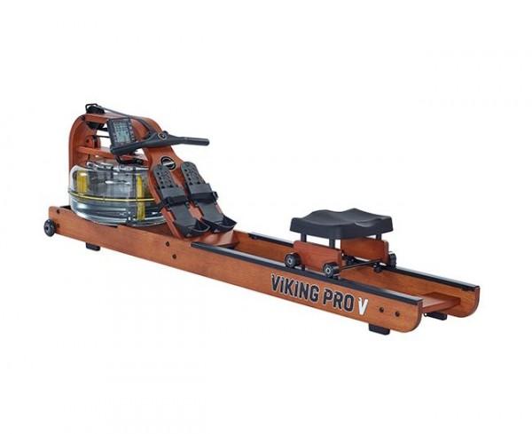 FluidRower Viking Pro V - Rudergerät Holz mit Wasserwiderstand