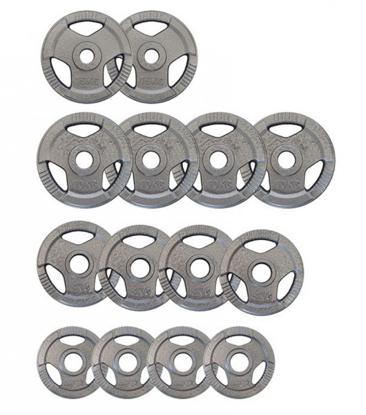 100kg Stahlguss Hantelscheiben-Set 50mm