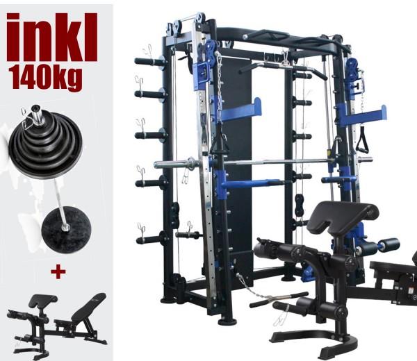 10.1 Multipresse 140kg Gewichte. Maxxus Multistation / Kraftstation Modell 2019