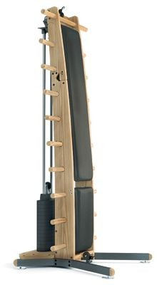 WeightWorkx - Esche - Echtleder - Kraftstation aus Holz