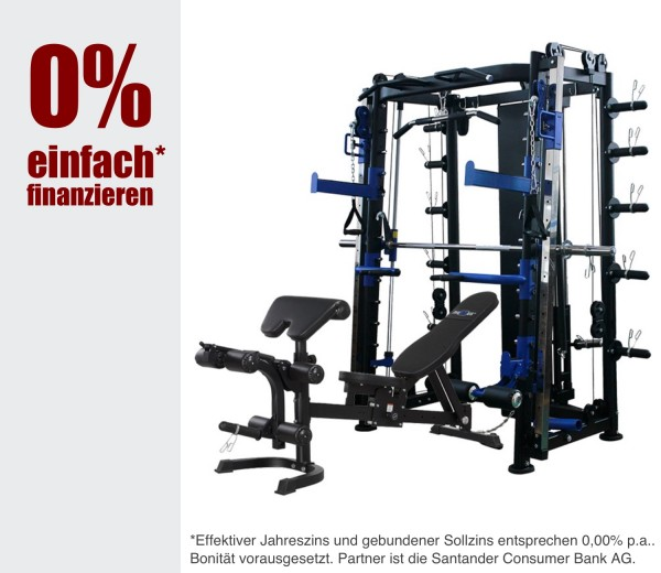 10.1 Kraftstation inkl. Zubehör - Fitness Station/ Multistation. 18 Monate 0% Finanzkauf