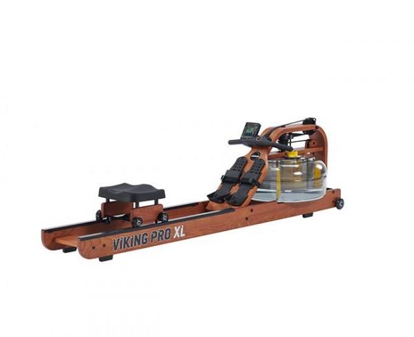 FluidRower Viking Pro XL - Rudergerät aus Holz mit Wasserantrieb
