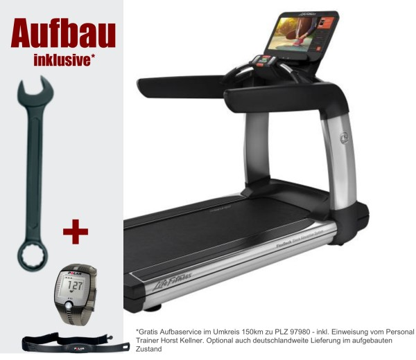 inkl. Aufbau. Club Series Laufband mit Discover SE3 Platinum Konsole inkl. Matte und Polar FT1
