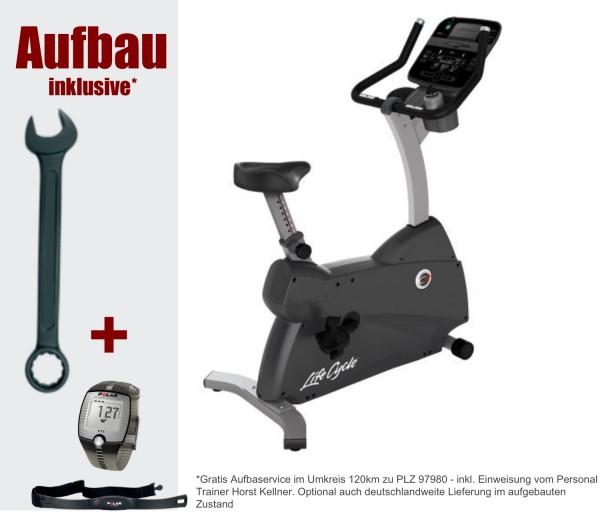 C3 Track Connect Ergometer inkl. Aufbau und Polar F1 Pulsuhr. Aktuelles Modell von Life Fitness