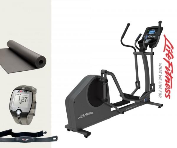 Life Fitness E1 Go Crosstrainer/ Ellipsentrainer inkl. Polar Brustgurt. Aktuelles Modell