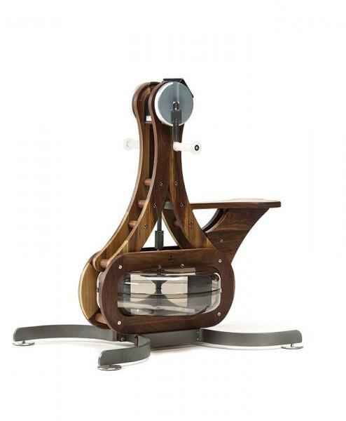 WaterGrinder - Nussbaum - Handergometer - Holz Oberkörpertrainer