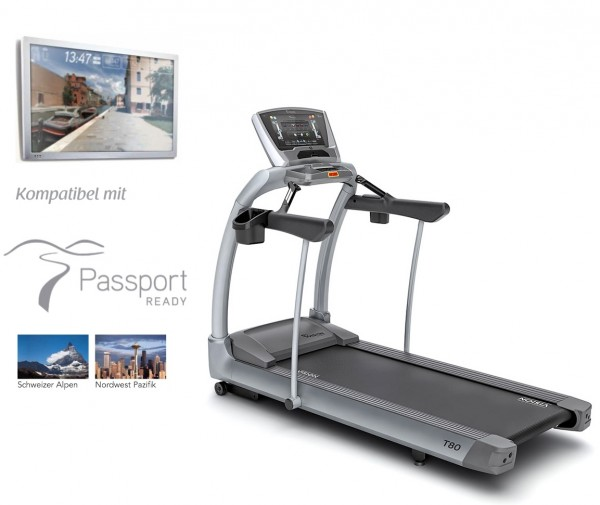 Vision Fitness T80 Touch Laufband inkl. Aufbauservice, Polar Brustgurt und Bodenmatte